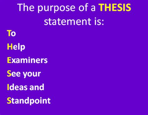 Starting words for thesis statement